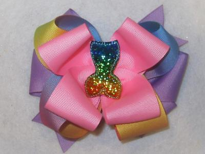 Unicorn Hairbow for Girls and Babies Triple Stacked Hair Bow Big Boutique bows