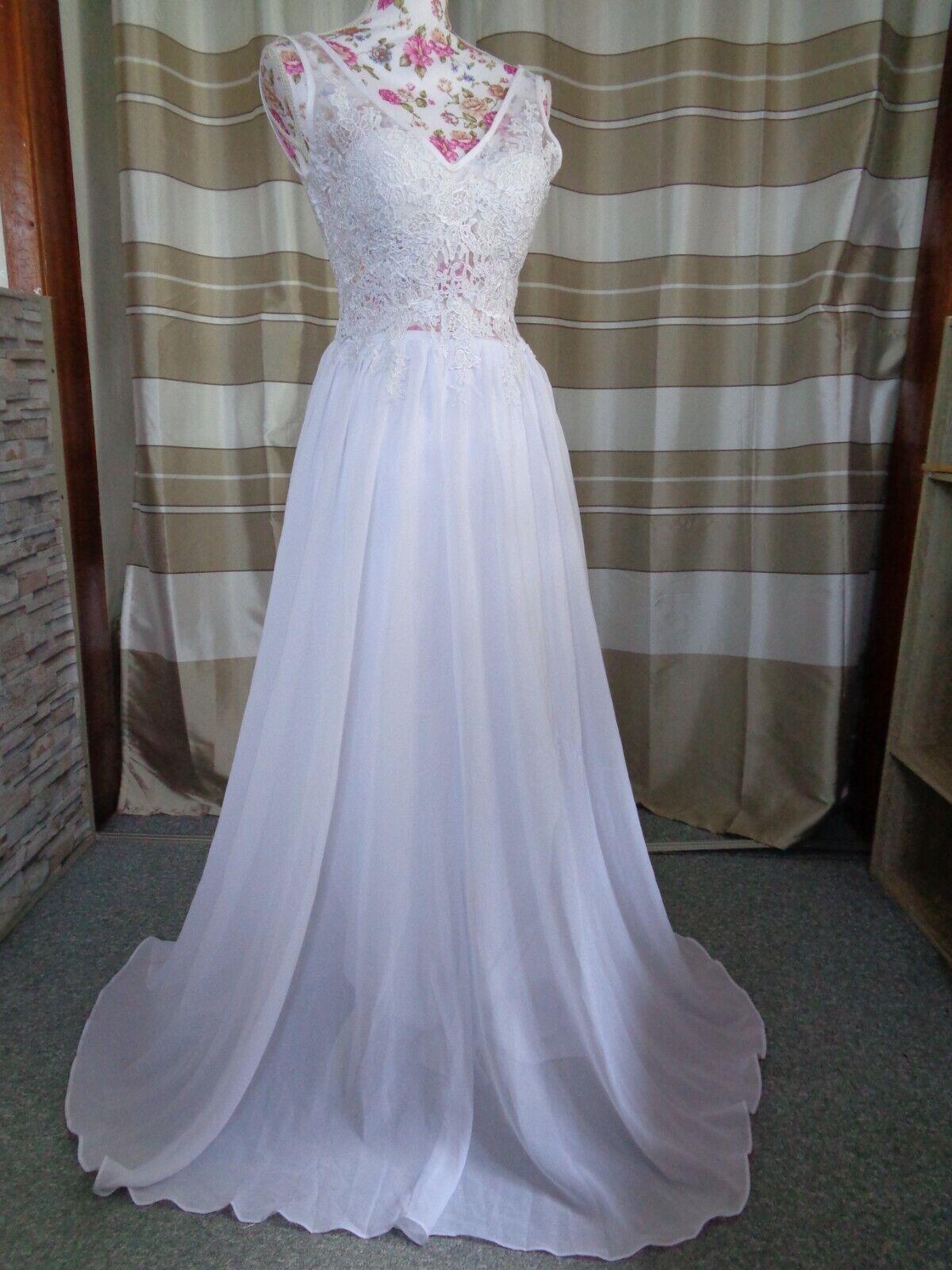 (91)Edles Damen Braut Standesamt Abend Kleid GR: 38