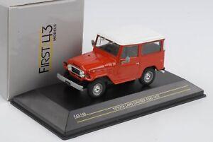 Toyota-Land-Cruiser-FJ40-Red-1973-Diecast-1-43-First-43