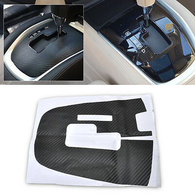 Carbon Fiber Automatic Gear Panel Decal Sticker Cover For Nissan Rogue / X-Trail