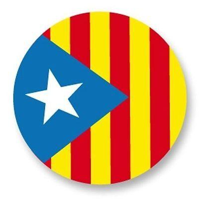 Magnet Aimant frigo Ø38mm Drapeau Flag Catalunya Catalán Cataluña