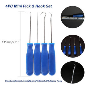 4pc Mini Precision Pick Hook Set O Ring Seal Gasket Puller Remover