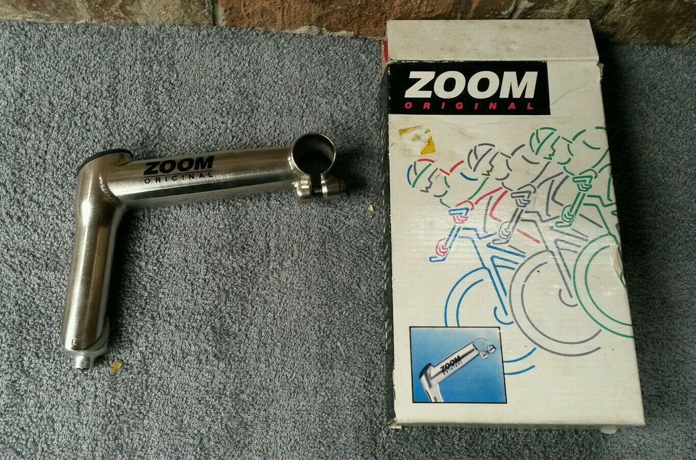 1994 NOS Zoom Cr-Mo Quill Stem 25.4 MTB 1-1 8   Threaded 135mm TI-Finish  free shipping