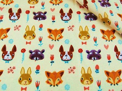 avec un motif moustache coloré Tissu coton 100/% imprimé coupon 50 x 160 cm