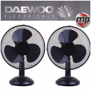 2 X Daewoo Black 12 Quot 3 Speed Electric Oscillating Desk