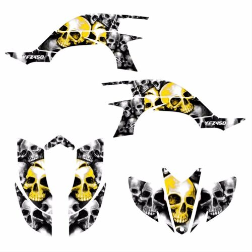 Yamaha YFZ 450 graphics 2003 2004 2005 2006 2007 2008 sticker kit #9800 Yellow