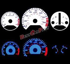98-02 Honda Accord AC Autotechnic Auto White Reverse Glow Gauge Faces Manual
