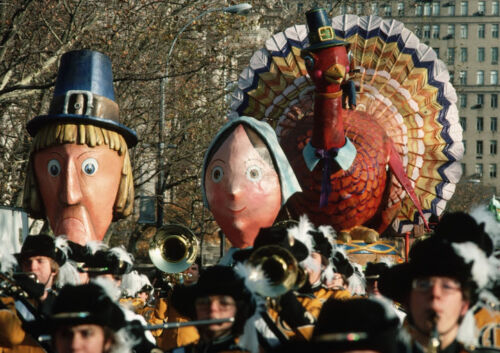 CANVAS Pilgrims and Turkey Float in Macy/'s Thanksgiving Day Art print POSTER