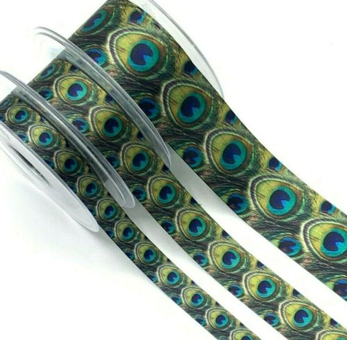 1m 3m Lengths 15mm 25mm 40mm Peacock Tail Feather Trim Peacock Ribbon