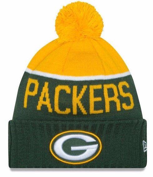 ... real green bay packers era cap 2015 nfl sideline on field sport knit  beanie hat osfm discount hats nike ... 7984f25591b