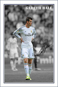 f2a73e15c54 Image is loading GARETH-BALE-SIGNED-AUTOGRAPH-PHOTO-PRINT-POSTER-Real-
