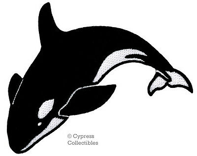 Whale embroidered patch Sew on//Iron on free delivery