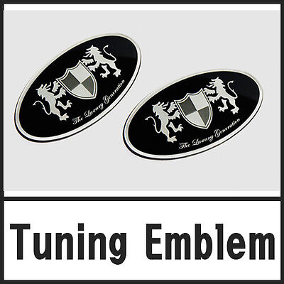Front Grill /& Rear Trunk Tuning Emblem 2P 1set For 08 09 10 11 Hyundai i30