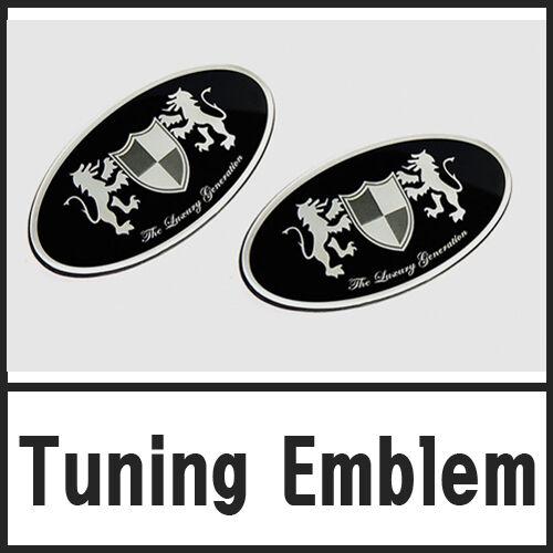 Front Grill /& Rear Trunk Tuning Emblem 2P 1set For 08 09 10 11 Hyundai i30
