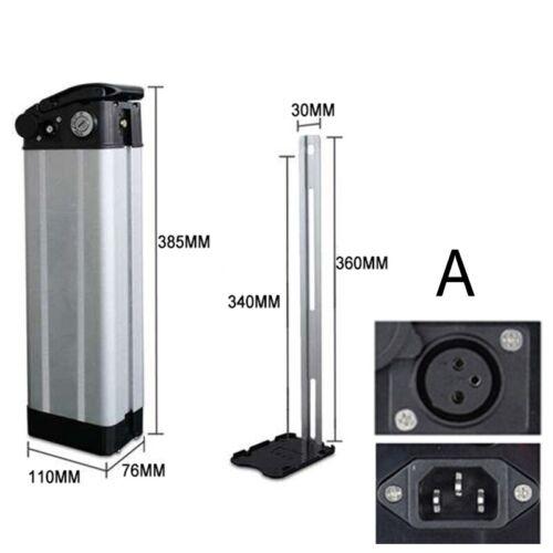 E-bike Battery Box Plastic Case for 36V//48V Large Capacity 18650 Holder Silver