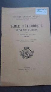 Società Archeologico Tavolo Metodica E.Peltereau 1927 Vendome ABE