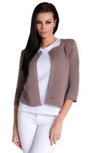Nommo 100/% Cotton 3//4 Sleeve Jersey Fashion Blazer Jacket Cardigan Black Large
