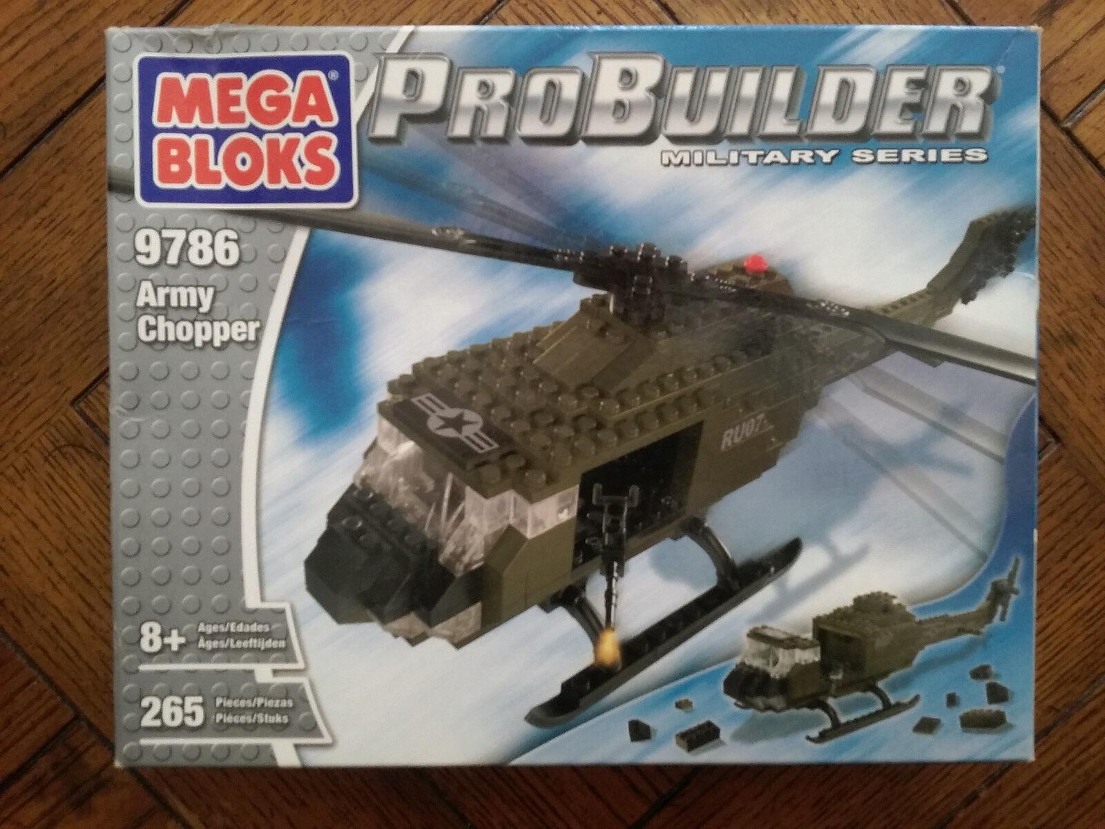 Mega Bloks ProBuilder Army Chopper (Huey Helicotter) -Bre nuovo non aperto