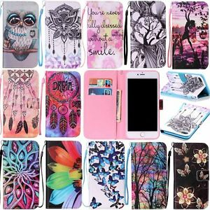 Stylish-Pattern-Card-Slot-Wallet-Flip-Leather-Case-Cover-For-iPhone-X-8-7-6-Plus