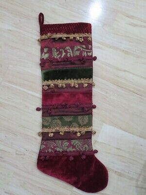 """36"""" Huge Ornate Dark Red, Gold & Green Velvet Tassle ..."""