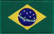 BRAZIL FLAG - FLAG OF BRAZIL - WORLD CUP SOCCER - Iron On Embroidered Patch