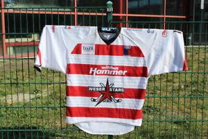 Weserstars Bremen Gameworn Trikot Away/weiß Saison 2019/2020