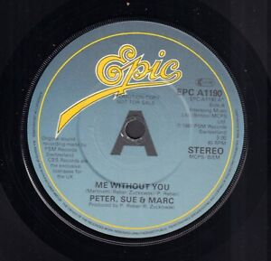 PETER-SUE-amp-MARC-Me-Without-You-1981-UK-PROMO-EUROVISION-VINYL-SINGLE-7-034