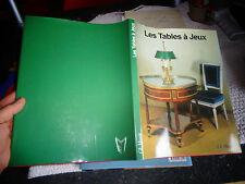 LES TABLES A JEUX PM Favelec Bois Pyrogravée Sculpté  Marqueterie Ebène Acajou