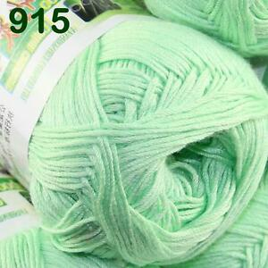 Sale-1-SkeinX50g-SUPER-Soft-Baby-Natural-Smooth-Bamboo-Cotton-Knitting-Yarn-915