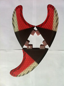 SURFBOARD-FINS-Honeycomb-Carbon-FCS-Fit-Surf-Fin-M5-Thruster-Set3-Red-Pro-Core