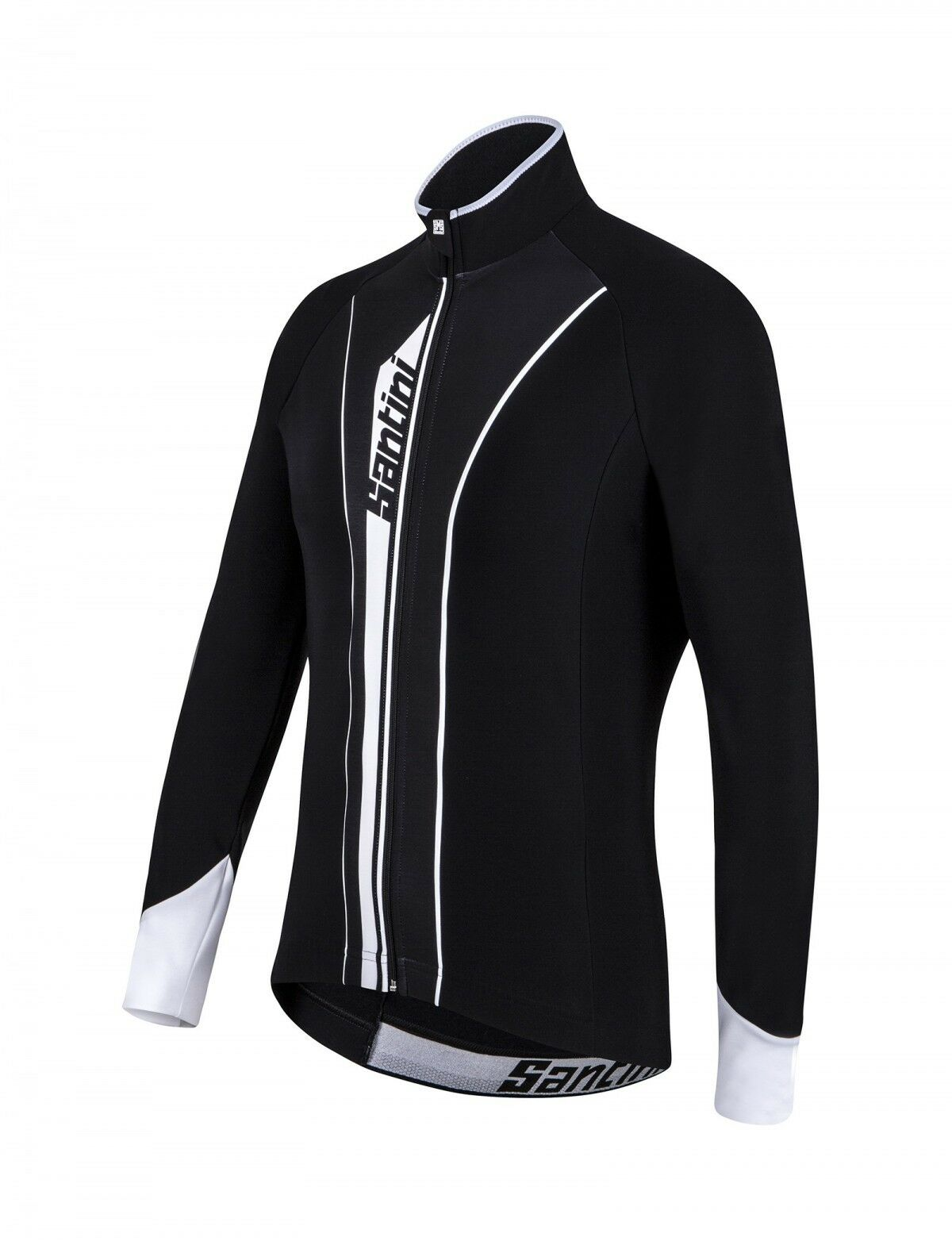 Vega Acqua Zero Long Sleeve Cycling Jersey  - Blk Whi - Made in  by Santini  sales online