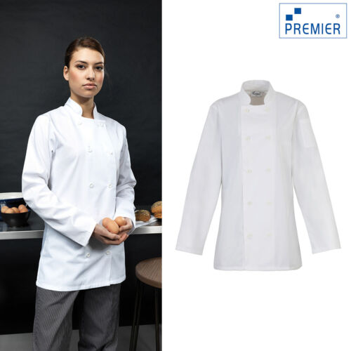 Cooking Kitchen Wear Coats Premier Women/'s Long Sleeve Chef/'s Jacket PR671