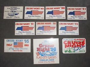 Details about VINTAGE LOT OF 11 FINDLAY OHIO CRUISE NIGHT CAR CLUB SHOW  DASH PLAQUES 1988-97