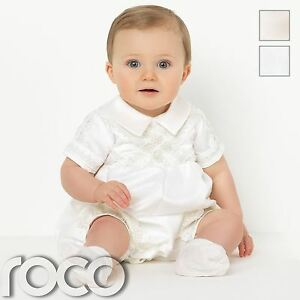 583bbecbb Image is loading Baby-Boys-Romper-Suits-Boys-Christening-Outfits-Boys-