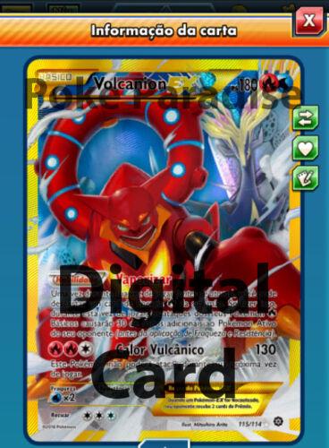 Volcanion EX SECRET 115//114 Pokemon TCG Online ! PTCGO Digital Card !!