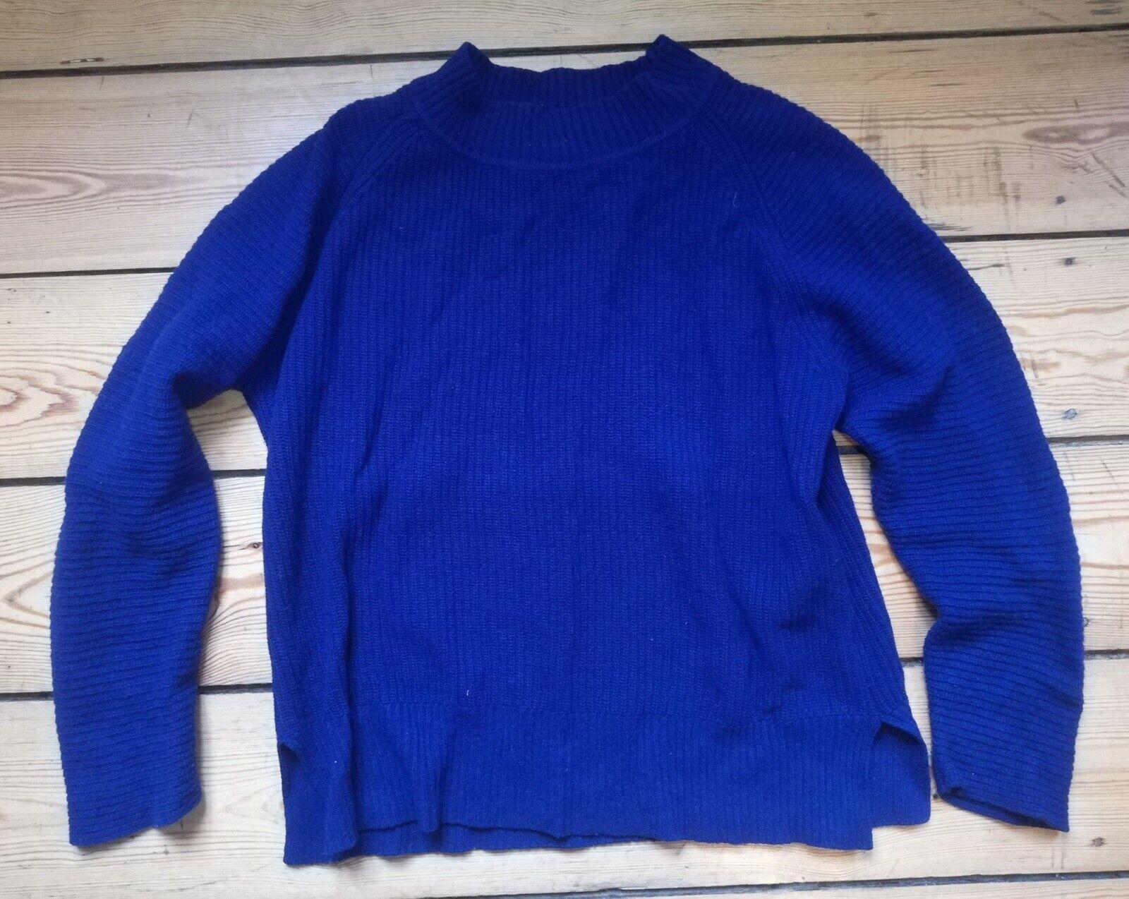 Dame Sweater, Kula, Blå Hvid fra Mads Nørgaard Striktrøjer
