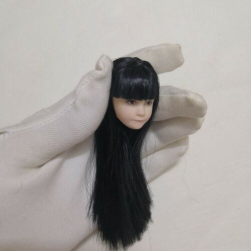 1:6 Cute Girl Head Sculpt Carved Model F Female Action Figure Body Toys Gifts