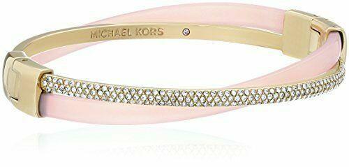85626a5ec1c2a Michael Kors Mkj5181 Crystals Gold Tone Blush Pink Bangle Bracelet for sale  online | eBay