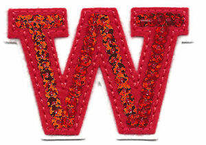 image is loading letters red sequin 2 034 letter 034 w