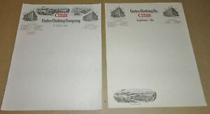 2-Vintage-Curlee-Clothes-Clothing-Co-Mayfield-Ky-St-Louis-Mo-Letterheads