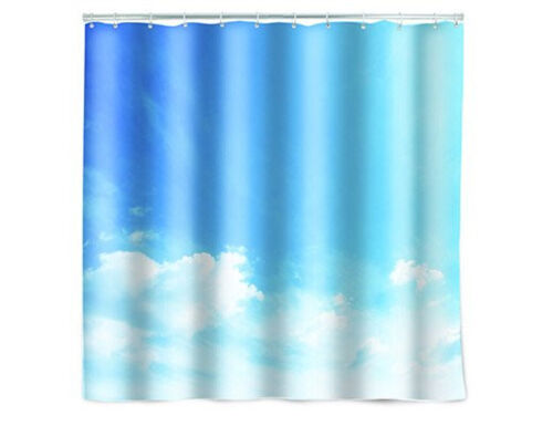 Kikkerland CLOUD PRINT Shower Curtain SH33 size 72 X 72 inch 100/% polyester