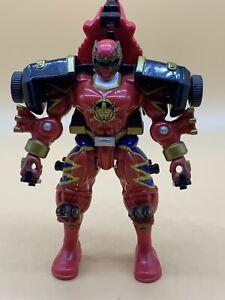 DINO THUNDER Power Rangers Red Ranger Triceratops Action Figure Bandai 2003