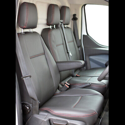 Ford Transit Custom Front INKA Tailored Seat Covers Black OEM Vinyl Leatherette