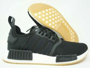 Adidas Nmd R1 Mens Running Shoes Black White Gum Sole B42200 Size