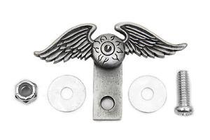 Eyeball Wing Flying Eye License Plate Topper for Harley All Models