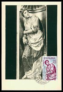 SPAIN-MK-1962-BERRUGUETE-HOLZSCHNITZEREI-SKULPTUR-CARTE-MAXIMUM-CARD-MC-CM-cf65