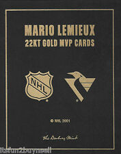 2001 MARIO LEMIEUX 3 MVP CARDS  22 KT GOLD SET UDA DANBURY MINT