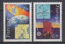 Färöer 1991 ** Mi.215/16 Weltraum Space | Satellit | Erde | Wetterkarte