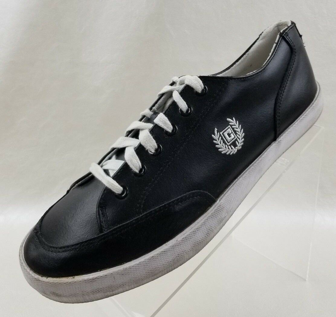 Chaps Ralph Lauren Sneakers Vintage Logo Mens Black Leather shoes Size 11
