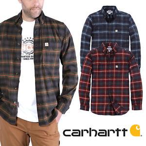 Carhartt 103445 Hamilton Slim Fit Shirt L/S, Hemd, Flanell,Rugged Flex,Baumwolle
